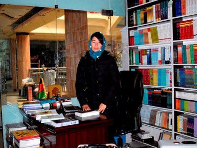 دختران کابل علاقهمند کتابفروشی