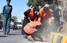صفایی شهر با اقدام تازه زنان نارنجی پوش