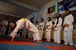 حرکات نمایشی دختران کاراته کار هرات
