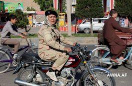 نخستین زن موتورسایکل سوار هرات