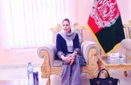 نبیله مصلح: هدف از سفر به هرات حل مشکلات ریاست امور زنان است
