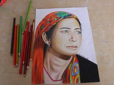 تصاویری از کار آتنا سلطانی بانوی نقاش