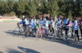 دختران بایسکلران هرات ۳ کیلومتر به حمایت از راهلاجور رکاب زدند
