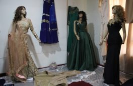 نمایشگاه لباس بانو ابتکار تعدادی از بانوان در هرت