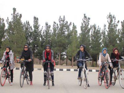 تصاویری از دختران بایسکلران هرات