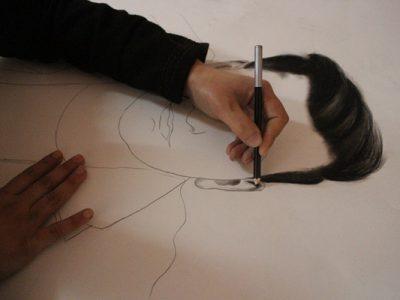 نقشهایی از خیال فریبا اسماعیلی بر کاغذ