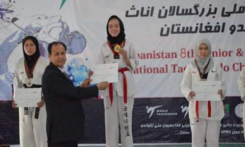 دختران تکواندوکار هرات؛ قهرمان هشتمین دور مسابقات تکواندوی افغانستان
