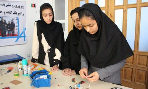 تلاش دختران هراتی برای تغییر جایگاه افغانستان در دنیای تکنالوژی