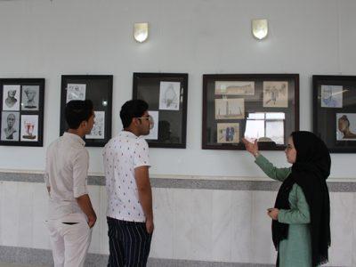 """""""آهنگ خط در طراحی"""" نمایشگاهی در دانشگاه هرات"""