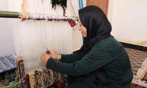 یک تیر دو نشان؛ زنی در تلاش زنده نگهداشتن هنر قالینبافی و اشتغالزایی