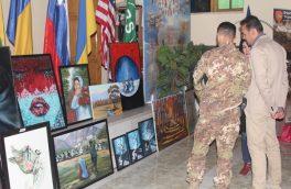 دومین نمایشگاه هنری زنان هرات، در آیساف برگزار شد
