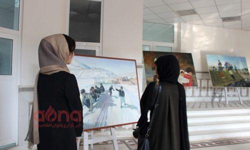چهارمین نمایشگاه شعر و نقاشی صلح در هرات برگزار شد