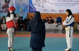 برگزاری هفتمین دور مسابقات تکواندو میان بانوان ورزشکار