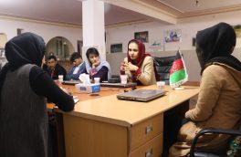 دیدار نرگس حسنزی با اعضای خبرگزاری بانوان افغانستان