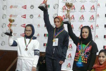 قهرمانی تیم منتخب بدمنتون دختران هرات