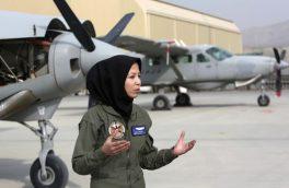 بانوی مهاجر افغانستانی پیلوت نظامی شد