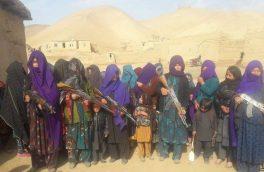 دهها زن در ولسوالی درزاب برای دفاع از مناطق شان سلاح برداشتند