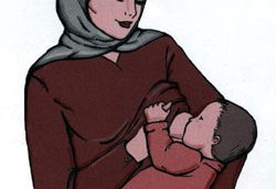عدم آگاهی زنان از نحوه صحیح شیردهی به نوزاد