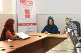 رئیس شبکۀ زنان افغان از خبرگزاری بانوان افغانستان دیدن کرد.
